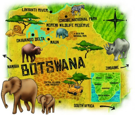 Botswana map2 - Georgie Fearns