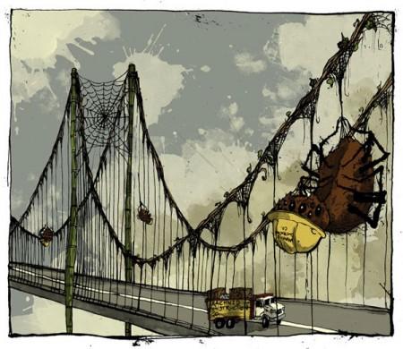 biomimicry-spiders-silk-web-suspension-bridge-david-procter-illustration